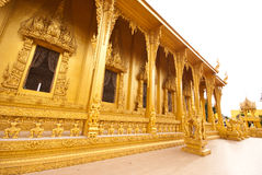 Outdoor design of thai temple Royalty Free Stock Photos