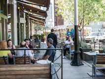 Outdoor diners at Hotel Congress in Tucson, Arizona Stock Image
