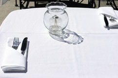 Outdoor Dining Stock Photo