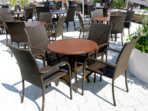 Outdoor dining area Royalty Free Stock Image