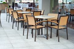 Outdoor dining area Stock Photos