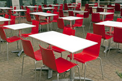 Outdoor dining area Royalty Free Stock Photos