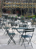 Outdoor dining area. In Bryant Park, NYC Stock Image