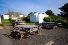 Outdoor dining area Royalty Free Stock Photography