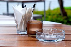Outdoor dining essentials Royalty Free Stock Photos
