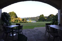 Outdoor Dining at Golf Resort Royalty Free Stock Image