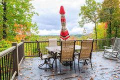 Outdoor Dining Mountain View Autumn Royalty Free Stock Photography