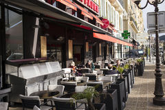 Outdoor dining, Nice, France Stock Photos