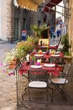Outdoor dining nook in Tuscany Stock Image