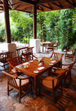 Outdoor Dining Restaurant, Nature Surroundings Stock Photography