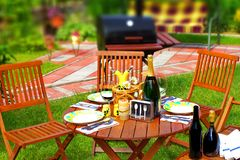Outdoor Dining Scene Stock Photos