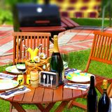 Outdoor Dining Scene Royalty Free Stock Images