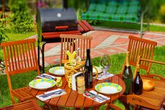 Outdoor Dining Scene Royalty Free Stock Image