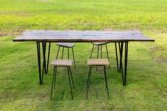 Outdoor Dining Table Set Royalty Free Stock Images