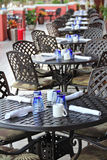 Outdoor dining vertical Royalty Free Stock Images