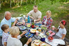 Outdoor dinner Royalty Free Stock Image