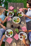 Outdoor dinner party Stock Images