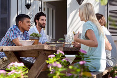 Outdoor dinner party Stock Image