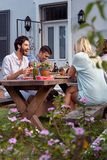 Outdoor dinner party Royalty Free Stock Photography