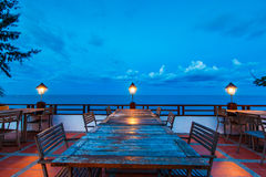 Outdoor dinner table Royalty Free Stock Photos