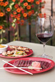 Outdoor dinning Stock Image