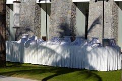 Outdoor dinning Stock Photo