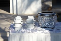 Outdoor dinning Stock Photography