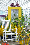Outdoor display at a greenhouse. Image of an outdoor display at a greenhouse Stock Photos