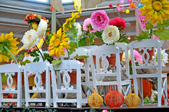 Outdoor display at a greenhouse. Image of an outdoor display at a greenhouse Stock Images