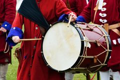 Outdoor drum in recreation Stock Images