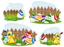 Outdoor easter scene Royalty Free Stock Images
