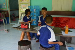 Outdoor Education. Rural schools,thailand Royalty Free Stock Photography
