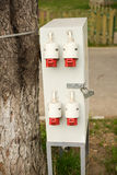Outdoor electric control box Stock Images