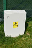 Outdoor electric control box Stock Image