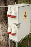 Outdoor electric control box Stock Photos
