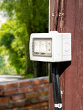 Outdoor Electric Switch Stock Photo