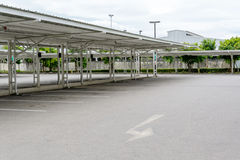Outdoor Empty car parking lot Stock Images