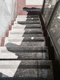 Outdoor Empty Marble Stairs of A Building Royalty Free Stock Photos