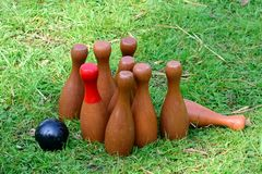Outdoor English Skittles Stock Photos