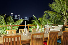 Outdoor entertaining area Stock Images