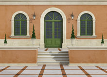 Outdoor entrance of a classic villa Royalty Free Stock Images