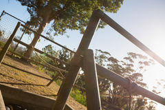Outdoor equipment in the boot camp Stock Photography