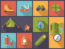 Outdoor equipment vector illustration. Royalty Free Stock Photography