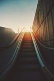 Outdoor escalator goes up Stock Image