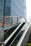 Outdoor escalator stock images