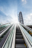 Outdoor escalator in shanghai Royalty Free Stock Images