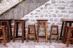 Outdoor european cafe Royalty Free Stock Photos