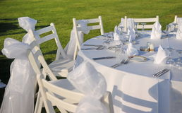 Outdoor Event set up Stock Image