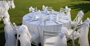 Outdoor event set up Royalty Free Stock Image