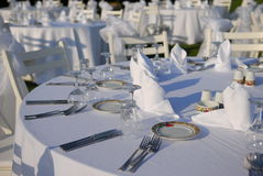 Outdoor event set up Royalty Free Stock Photos